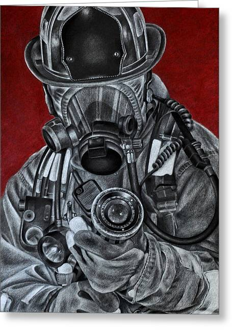 Firefighter Greeting Cards - Assault Greeting Card by Jodi Monroe