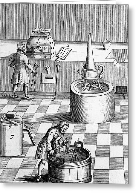 Assay Laboratory For Gold And Silver Greeting Card by Universal History Archive/uig