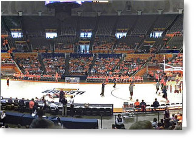 Basketballs Greeting Cards - Assembly Hall University of Illinois Greeting Card by Thomas Woolworth