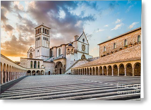 San Francesco Greeting Cards - Assisi Sunset Greeting Card by JR Photography