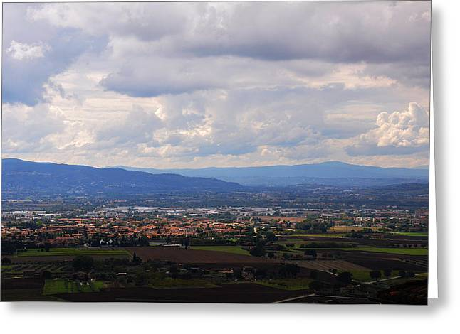 St. Francis Day Greeting Cards - Assisi Valley Greeting Card by Reese Lewis