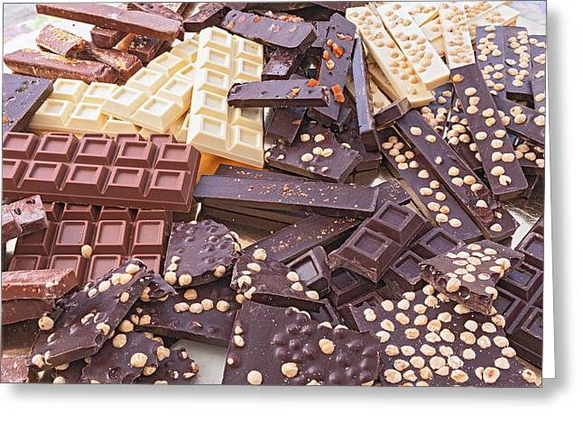 Sweetmeats Greeting Cards - Assorted Chocolate Bars Greeting Card by Ermess Images