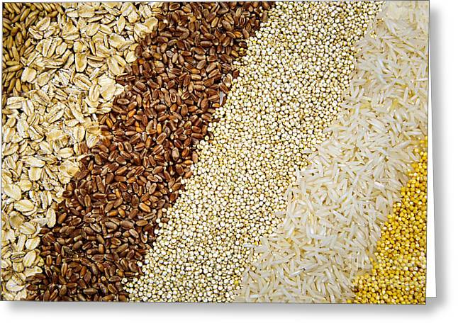 Healthy Greeting Cards - Assorted grains Greeting Card by Elena Elisseeva