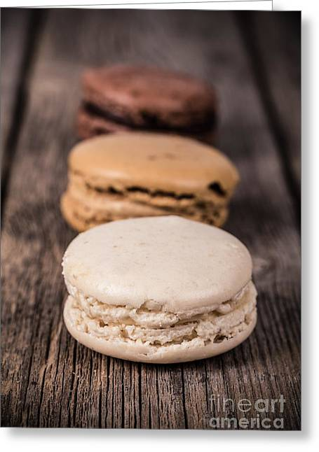 Vignette Greeting Cards - Assorted macaroons vintage Greeting Card by Jane Rix