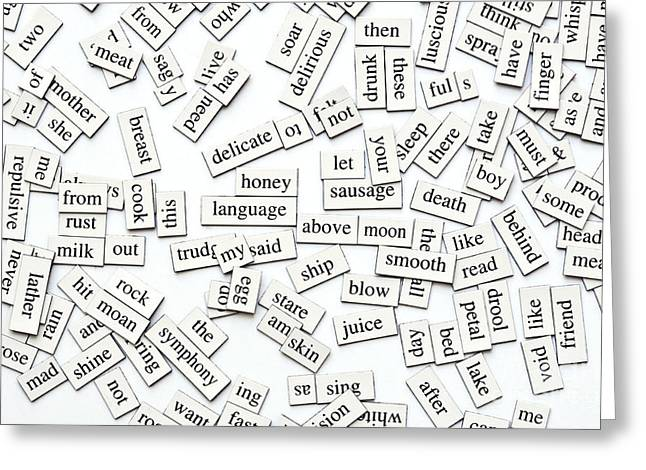 Adjectives Greeting Cards - Assorted Magnetic Words Greeting Card by Tim Hester