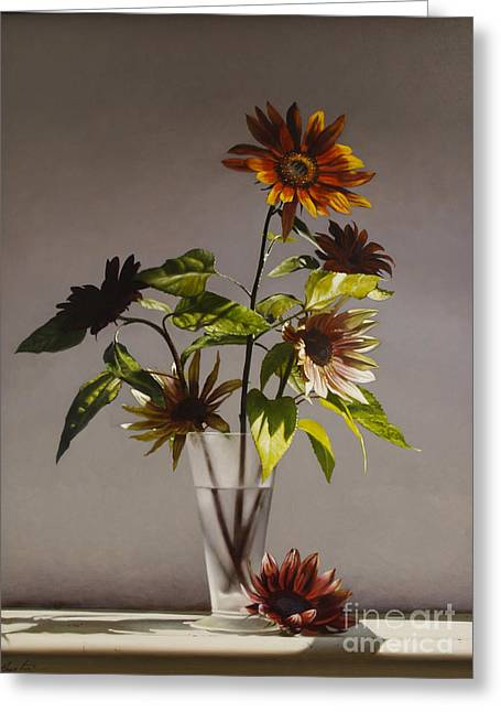 Assorted Sunflowers Greeting Card by Larry Preston