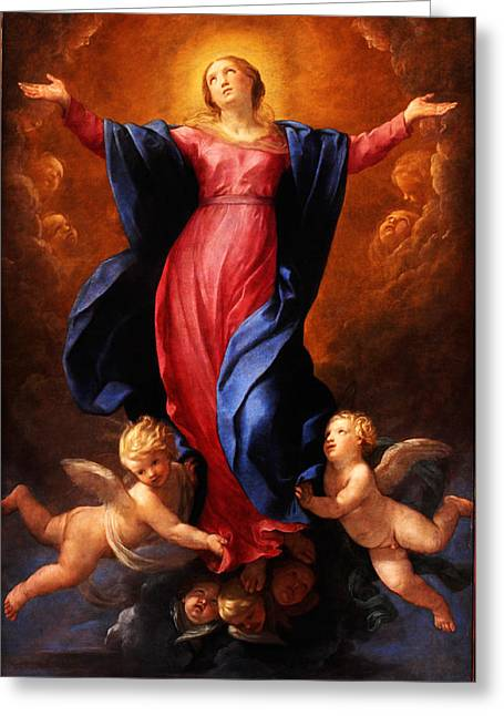 Assumption Greeting Cards - Assumption of the Virgin Greeting Card by Celestial Images