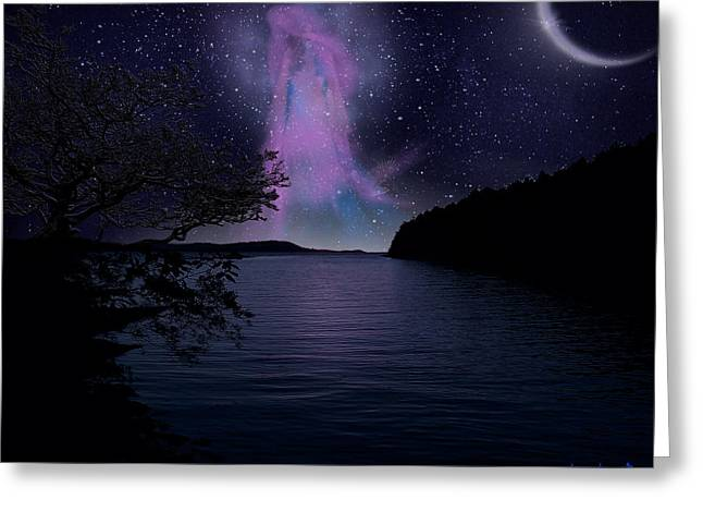 Fine Art Digital Art Greeting Cards - Asteria Greeting Card by Torie Tiffany