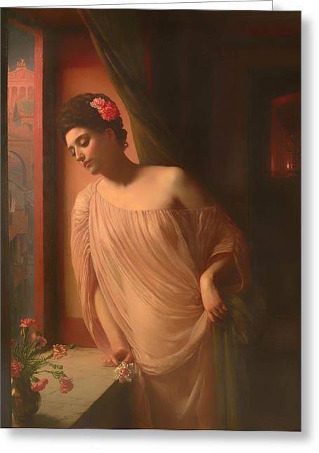 Night Out Paintings Greeting Cards - Asterie Greeting Card by Edward Poynter