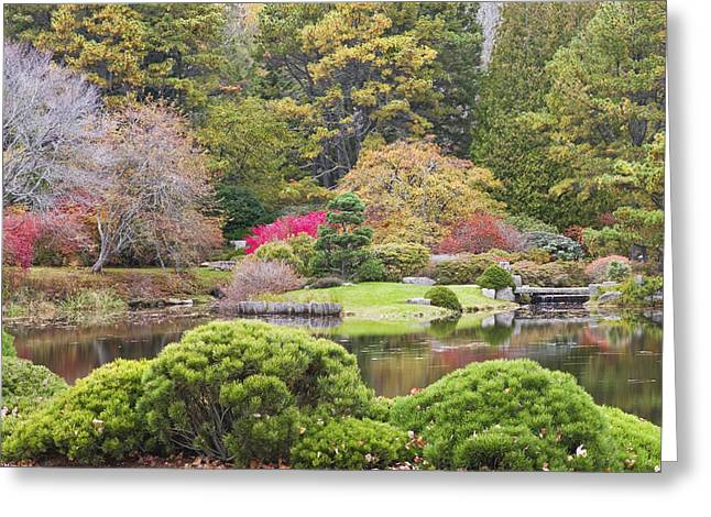 Public Garden Greeting Cards - Asticou Azelea Garden - Northeast Harbor - Mount Desert Island - Maine Greeting Card by Keith Webber Jr