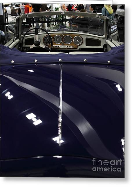 Dash-board Greeting Cards - Aston Martin - 5D20298 Greeting Card by Wingsdomain Art and Photography