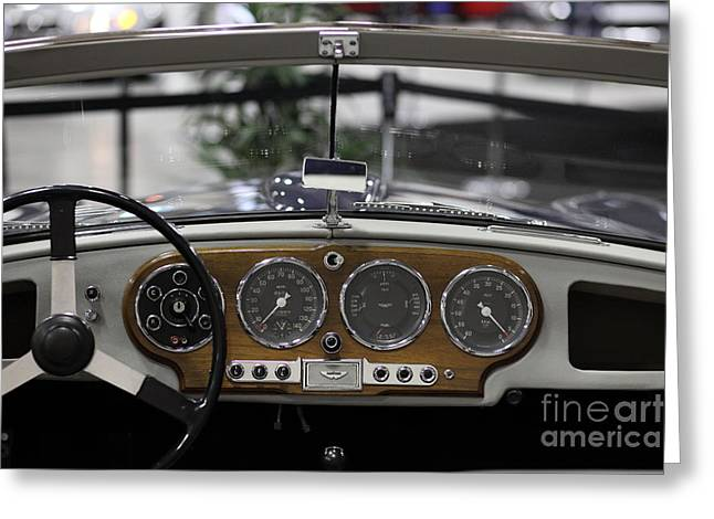 Dash-board Greeting Cards - Aston Martin - 5D20301 Greeting Card by Wingsdomain Art and Photography