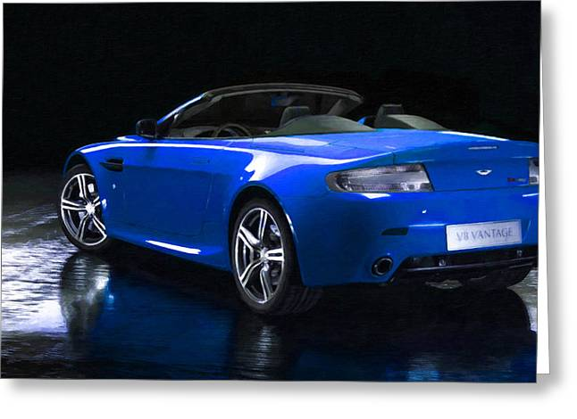 Headlight Paintings Greeting Cards - Aston Martin 9 Greeting Card by Lanjee Chee