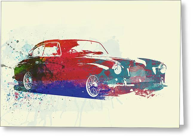 British Classic Cars Greeting Cards - Aston Martin DB2 Greeting Card by Naxart Studio