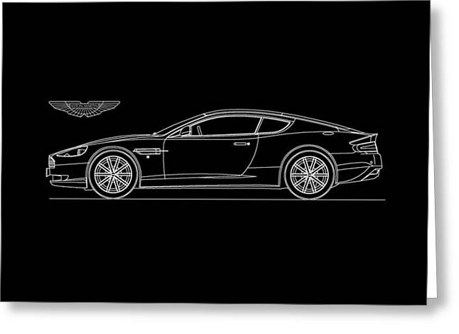 Aston Martin Greeting Cards - Aston Martin DB9 Phone Case Greeting Card by Mark Rogan