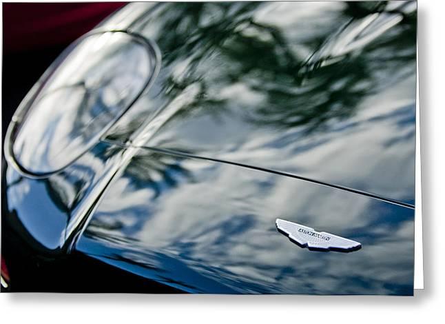 Aston Martin Greeting Cards - Aston Martin Hood Emblem 4 Greeting Card by Jill Reger