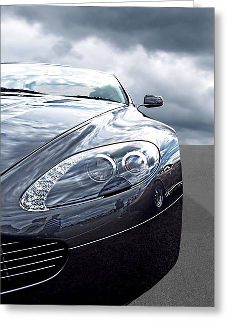 European Artwork Greeting Cards - Aston Martin Vantage Detail Greeting Card by Gill Billington