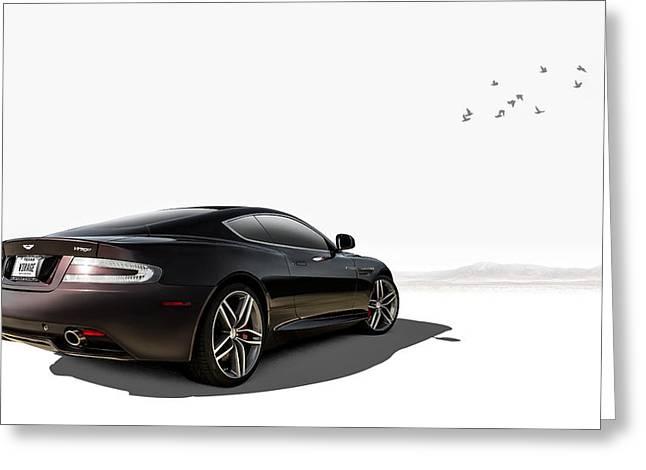 High Digital Art Greeting Cards - Aston Martin Virage Greeting Card by Douglas Pittman