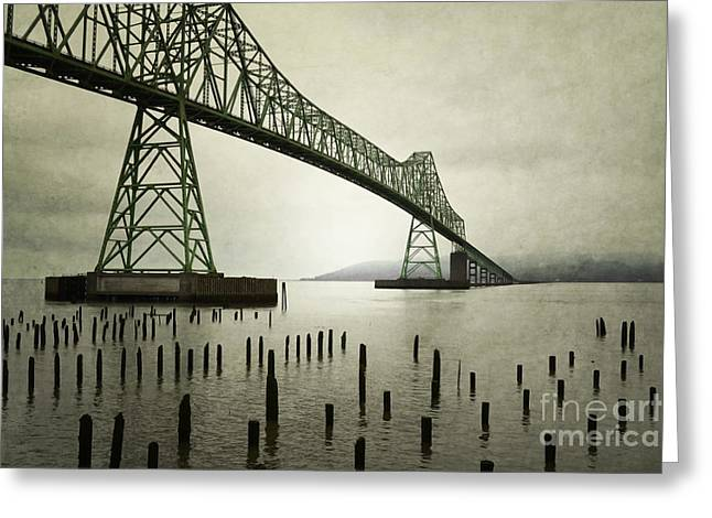 Pacific Ocean Prints Greeting Cards - Astoria Bridge Oregon Greeting Card by Andrea Hazel Ihlefeld