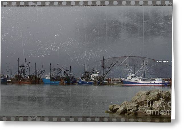 Commercial Photography Mixed Media Greeting Cards - Astoria Harbor 3 Greeting Card by Chalet Roome-Rigdon