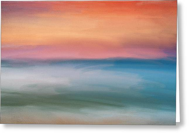 Abstract Seascape Art Greeting Cards - Astound Greeting Card by Lourry Legarde
