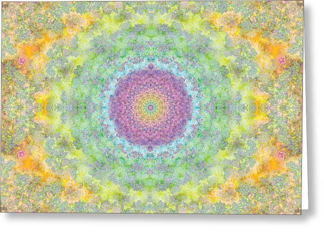 Hypnotic Abstract Greeting Cards - Astral Field Greeting Card by Mark Greenberg
