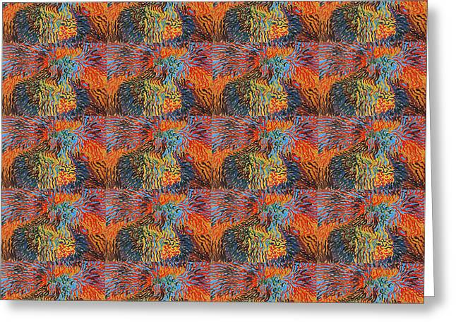 Bed Spread Greeting Cards - Astrale Komposition XI Collage Greeting Card by Wilhelm Morgner