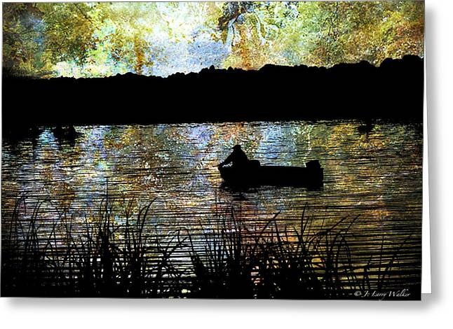 Waterscape Digital Art Greeting Cards - Astray In Thought Greeting Card by J Larry Walker