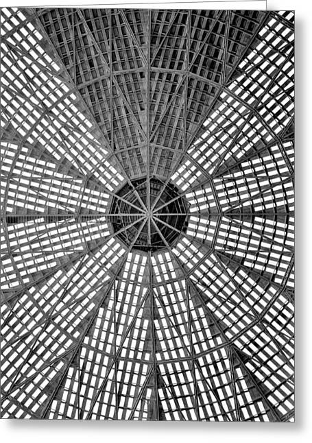 Astro Greeting Cards - Astrodome Ceiling Greeting Card by Benjamin Yeager