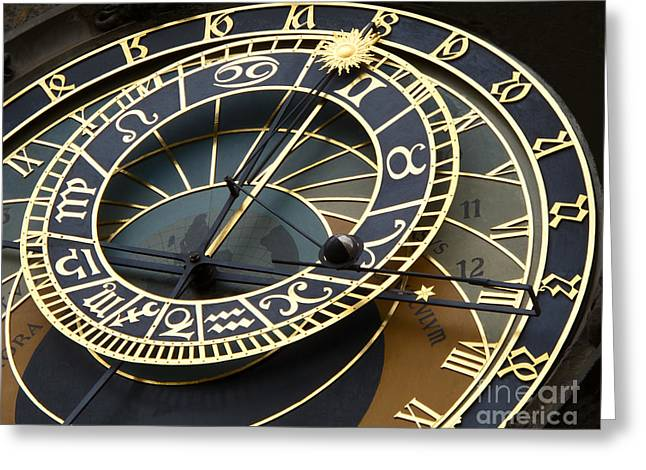 Ann Horn Greeting Cards - Astronomical Clock Greeting Card by Ann Horn