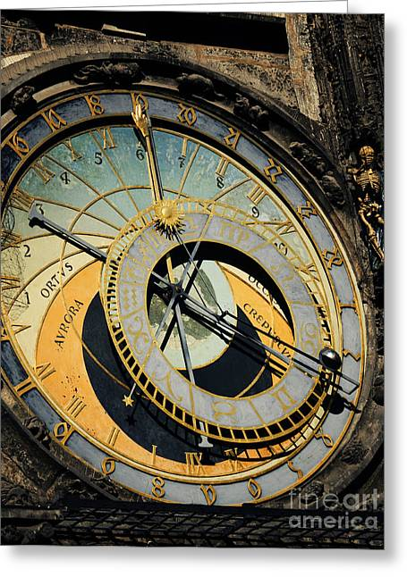 View Pyrography Greeting Cards - Astronomical clock in Prague Greeting Card by Jelena Jovanovic