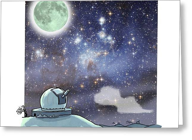 Astronomical Research Greeting Cards - Astronomical research, artwork Greeting Card by Science Photo Library