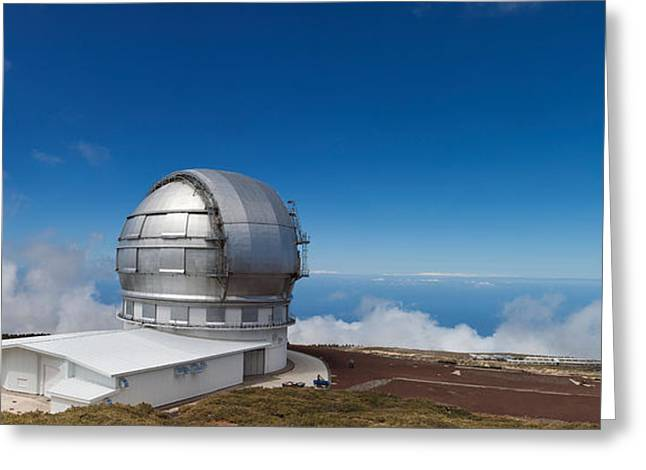 Astronomy Telescope On The Coast, Gran Greeting Card by Panoramic Images