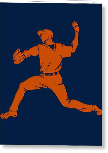 Baseball Art Photographs Greeting Cards - Astros Shadow Player1 Greeting Card by Joe Hamilton