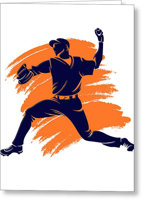 Baseball Art Photographs Greeting Cards - Astros Shadow Player2 Greeting Card by Joe Hamilton