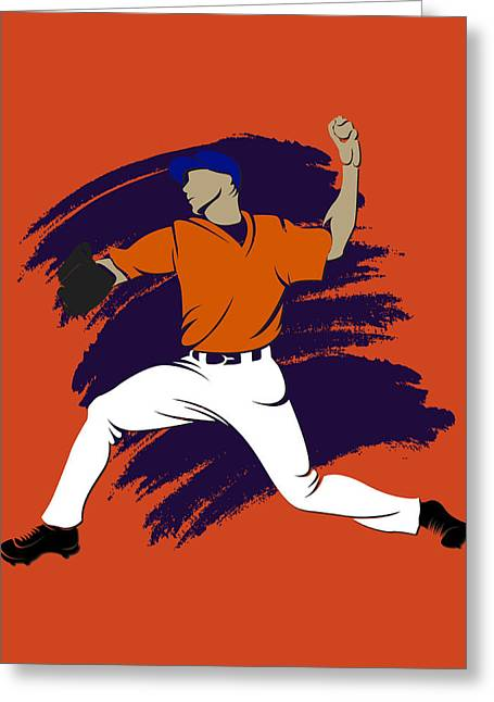 Baseball Art Photographs Greeting Cards - Astros Shadow Player3 Greeting Card by Joe Hamilton
