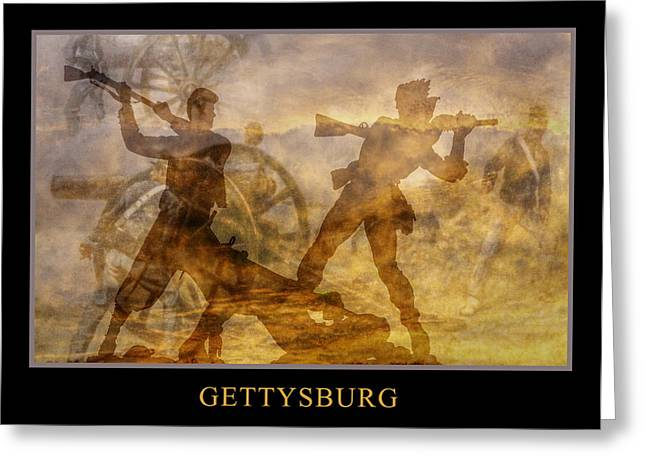 Statue Of Confederate Soldier Greeting Cards - At a Place Called Gettysburg Poster Greeting Card by Randy Steele