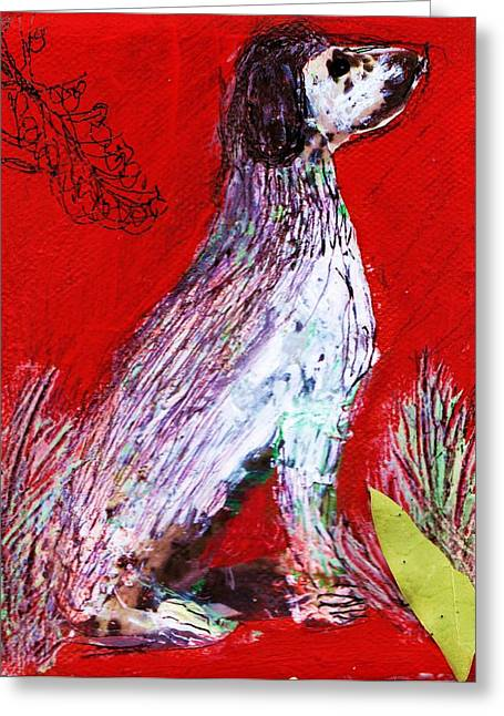 Improvisation Greeting Cards - At Attention Greeting Card by Anne-Elizabeth Whiteway