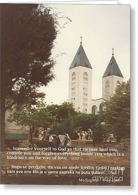 Saint Hope Greeting Cards - At church  6-1988 quote Greeting Card by Christina Verdgeline