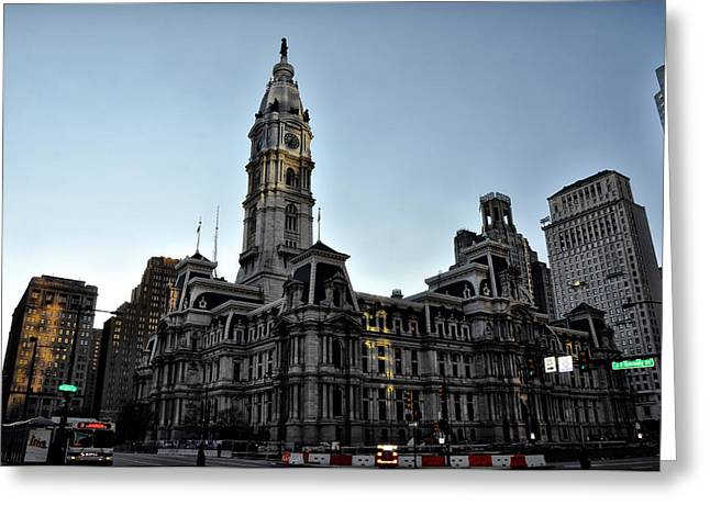 City Hall Digital Art Greeting Cards - At City Hall in Philadelphia Greeting Card by Bill Cannon