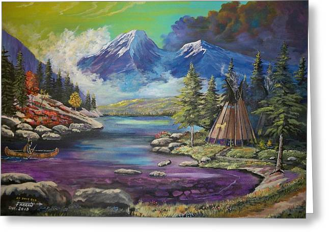 Canoe Greeting Cards - At Days End Greeting Card by Dave Farrow