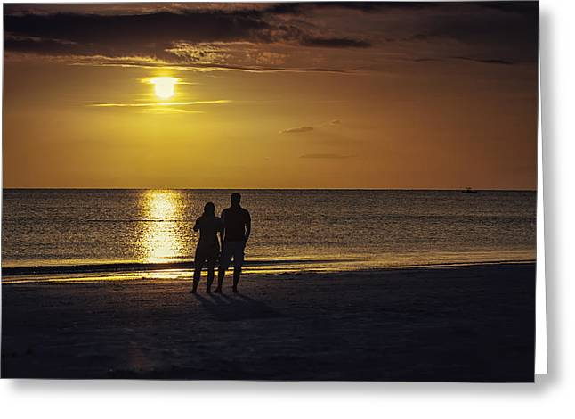 Go With The Flow Greeting Cards - At Days End Greeting Card by Edward Kreis