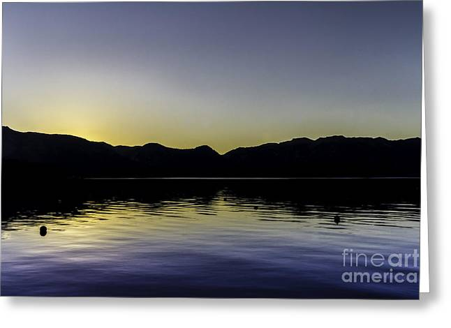 Dusk At The Lake Greeting Cards - At Ease Greeting Card by Mitch Shindelbower