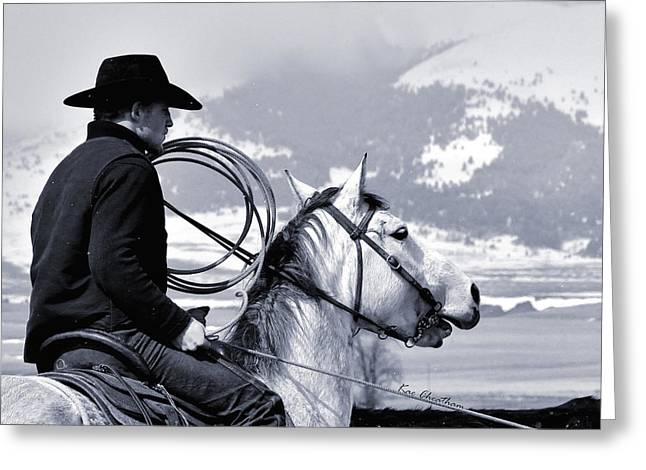Kae Cheatham Greeting Cards - At Home on the Range - 2 Greeting Card by Kae Cheatham