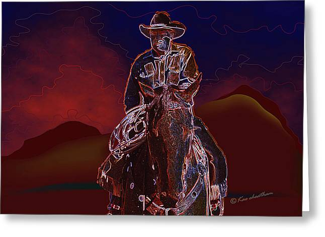 Kae Cheatham Greeting Cards - At Home On The Range Greeting Card by Kae Cheatham
