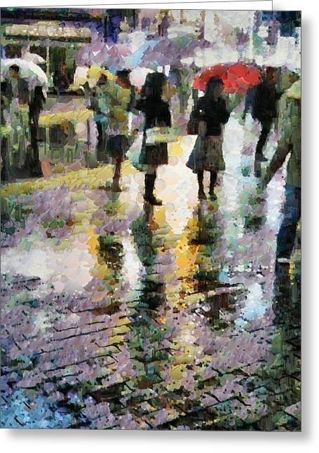 At Last Spring Rain Greeting Card by Gun Legler