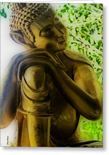 At Peace Greeting Card by Cheryl Young