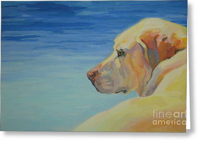 Lounge Paintings Greeting Cards - At Peace Greeting Card by Kimberly Santini