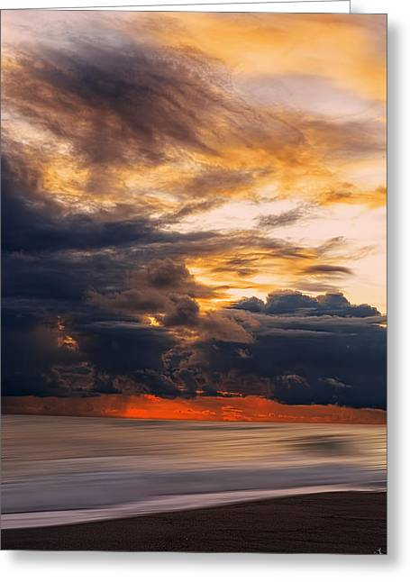 Sunset Abstract Photographs Greeting Cards - At Peace Greeting Card by Lourry Legarde