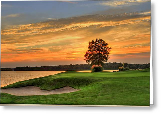 Golf Pictures Greeting Cards - At Peace Greeting Card by Reid Callaway